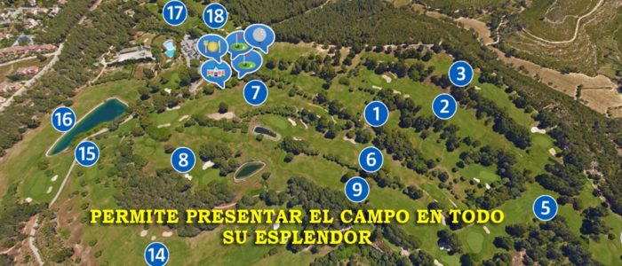 Recorrido Virtual Campo de Golf - Yardas Tour