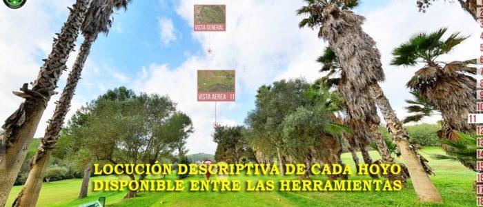 Recorrido Virtual Campo de Golf - Locución descriptiva Hoyos - Yardas Tour