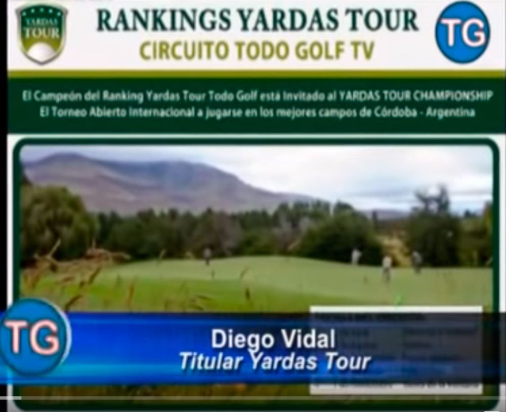 Reportaje Todo Golf TV – Ranking Yardas Tour 2014