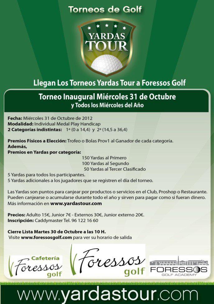 Cartel Torneo 2012 YardasTour