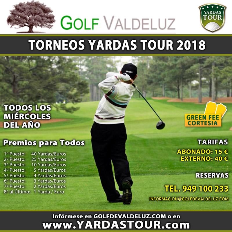 Torneos Yardas Tour en Golf Valdeluz