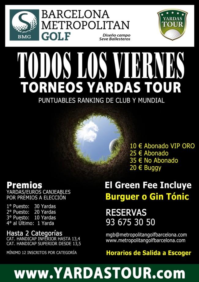 Torneos Yardas Tour en Metropolitan Golf Barcelona