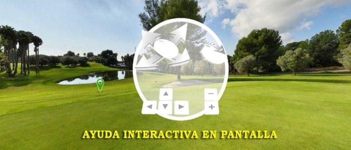 Recorrido Virtual en 360° de Campo de Golf - Ayuda Interactiva