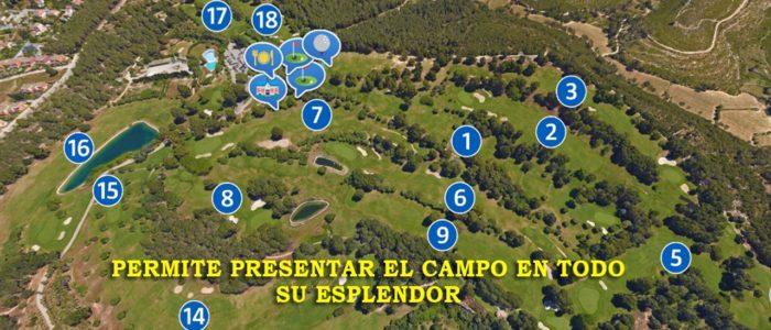 Recorrido Virtual Campo de Golf - Yardas Tour