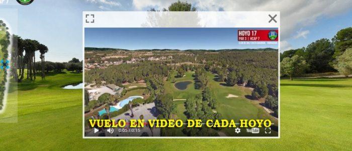 Recorrido Virtual Campo de Golf - Video - Drone - Yardas Tour