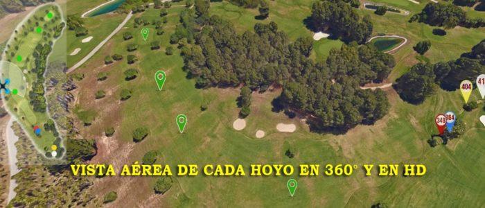Recorrido Virtual Campo de Golf - Vistas aéreas - Yardas Tour