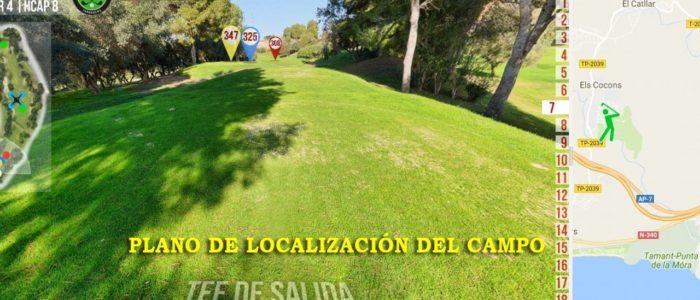 Recorrido Virtual Campo de Golf - Localización - Yardas Tour