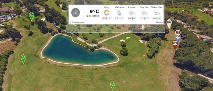 Recorrido Virtual Campo de Golf - Clima Actualizado - Yardas Tour