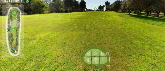 Recorrido Virtual Campo de Golf - Conocer- desear-curiosear - Yardas Tour