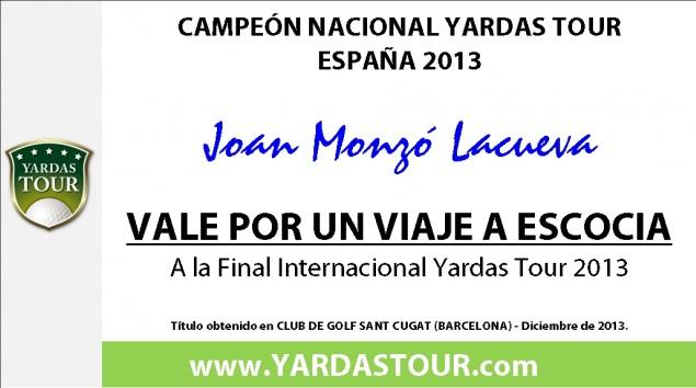 Campeón de España Yardas Tour 2013
