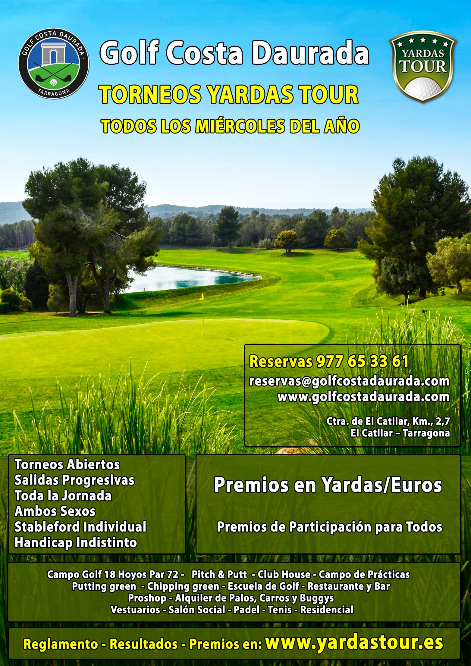 Golf Costa Daurada - Torneos Yardas Tour